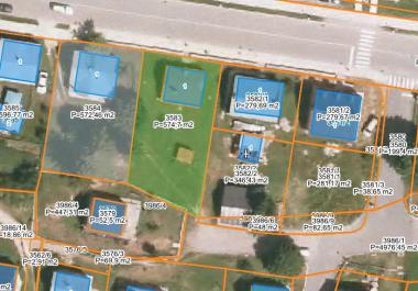 2 plots of land in center of Zhablyak for building 4 floors house 1100 m2