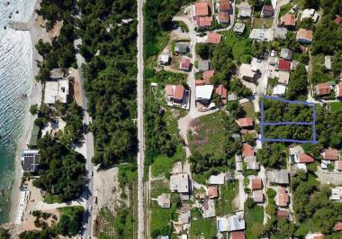 Urbanized plot of 660 m2 in Bar with great sea view in pine grove